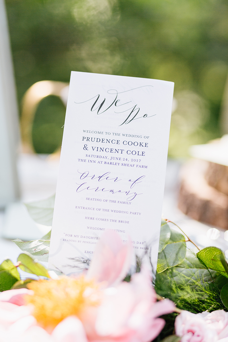 wedding paper goods - photo by Emily Wren Photography http://ruffledblog.com/bright-beautiful-summer-wedding-with-geometric-accents