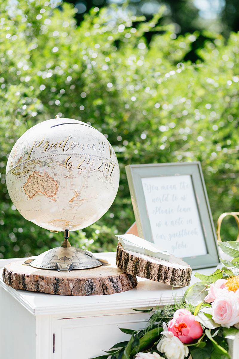 unique guest book ideas - photo by Emily Wren Photography https://ruffledblog.com/bright-beautiful-summer-wedding-with-geometric-accents
