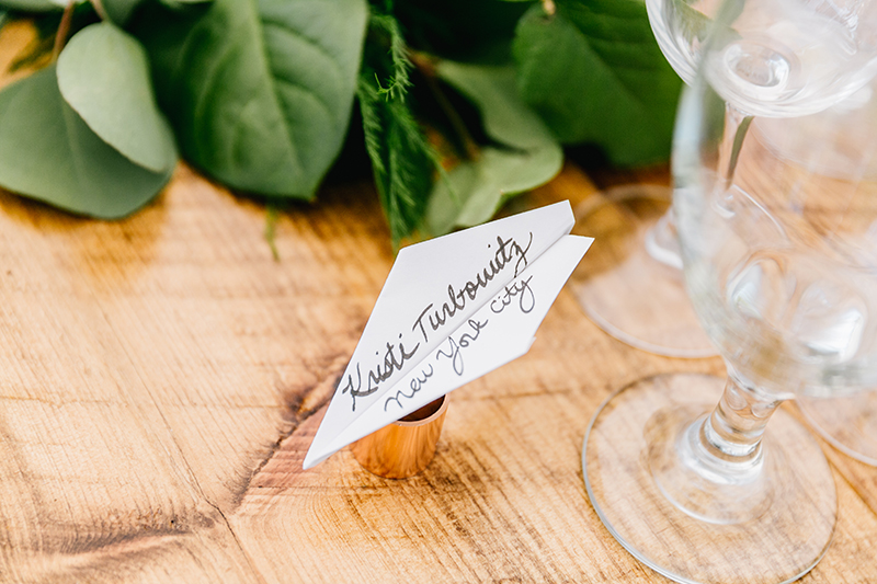 paper goods - photo by Emily Wren Photography https://ruffledblog.com/bright-beautiful-summer-wedding-with-geometric-accents