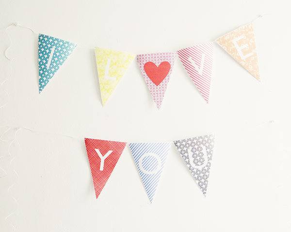 Printable Alphabet Bunting Ruffled