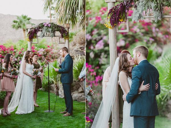 wedding ceremony - photo by eplove https://ruffledblog.com/modern-boho-wedding-in-palm-springs