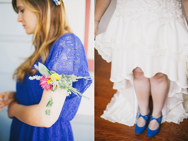 bridal shoes - photo by Alexandra Wallace https://ruffledblog.com/san-luis-obispo-eclectic-diy-wedding