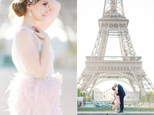 whimsical elopement inspiration in Paris - photo by Olga Thomas of Chic Wedding Day https://ruffledblog.com/whimsical-elopement-inspiration-in-paris