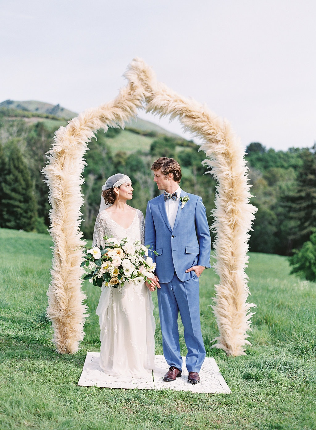 25 Irresistible Pampas Grass Wedding Ideas - https://ruffledblog.com/25-irresistible-pampas-grass-wedding-ideas