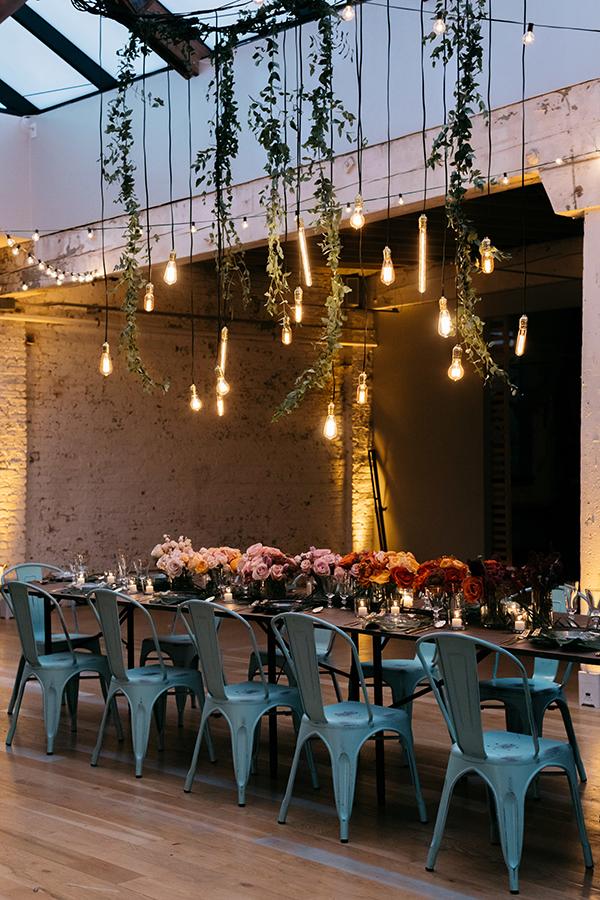 Fall wedding decor with ombre details #weddings #fallweddings #ombre #centerpieces https://ruffledblog.com/ombre-fall-wedding-ideas