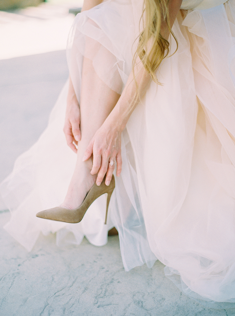 netural wedding shoes - photo by This Love of Yours Photography http://ruffledblog.com/charming-wedding-inspiration-with-a-lush-floral-arch