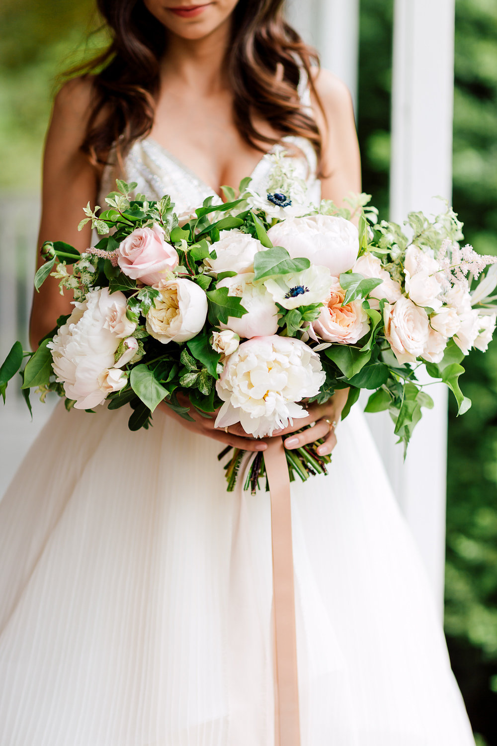 romantic garden bouquets - photo by Purple Tree Photography http://ruffledblog.com/charming-wine-country-wedding-at-kurtz-orchard