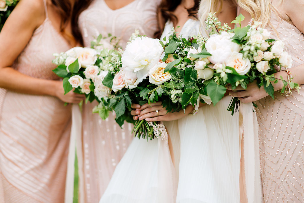 bridesmaid bouquets - photo by Purple Tree Photography http://ruffledblog.com/charming-wine-country-wedding-at-kurtz-orchard