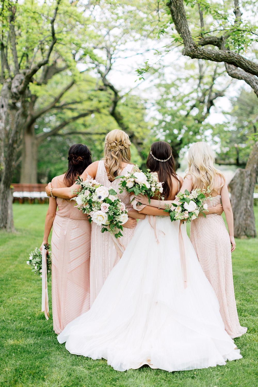 bridesmaid portraits - photo by Purple Tree Photography https://ruffledblog.com/charming-wine-country-wedding-at-kurtz-orchard