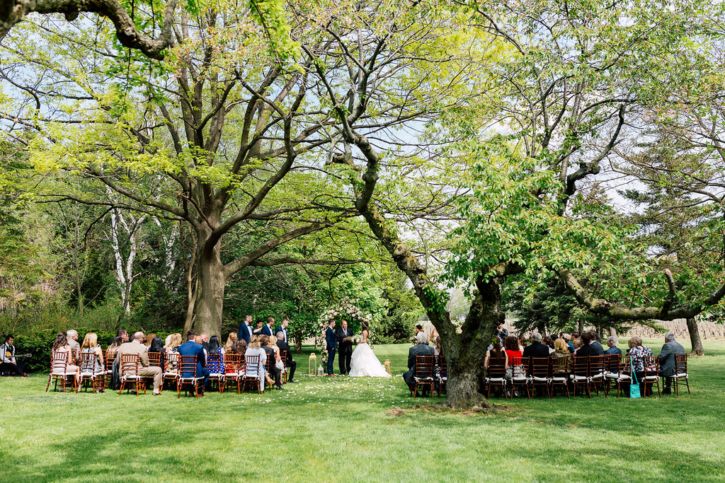 wedding ceremony - photo by Purple Tree Photography https://ruffledblog.com/charming-wine-country-wedding-at-kurtz-orchard