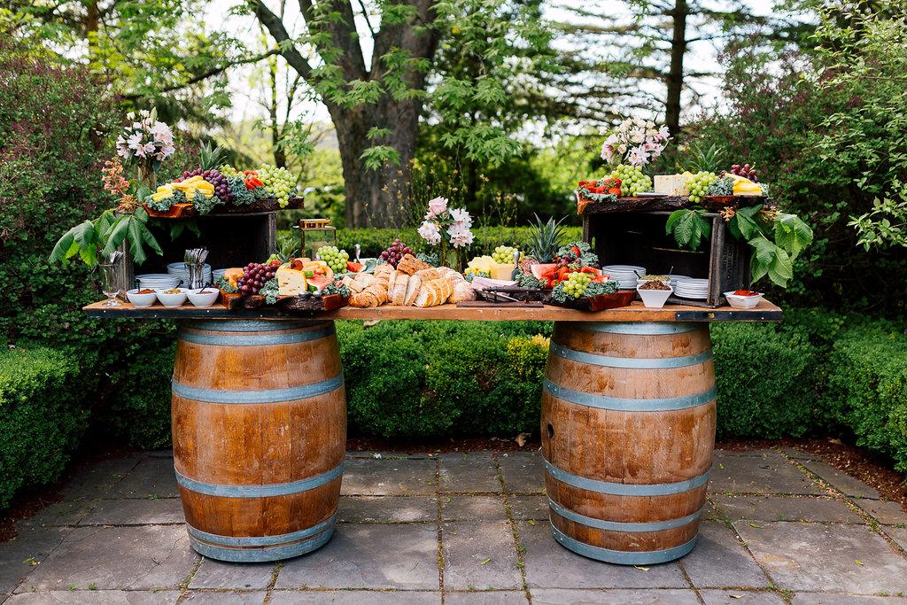 fruit tables - photo by Purple Tree Photography https://ruffledblog.com/charming-wine-country-wedding-at-kurtz-orchard