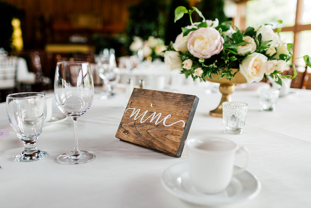 table numbers - photo by Purple Tree Photography https://ruffledblog.com/charming-wine-country-wedding-at-kurtz-orchard