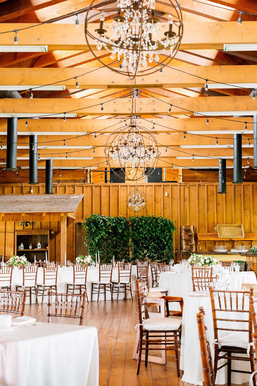 indoor wedding receptions - photo by Purple Tree Photography https://ruffledblog.com/charming-wine-country-wedding-at-kurtz-orchard