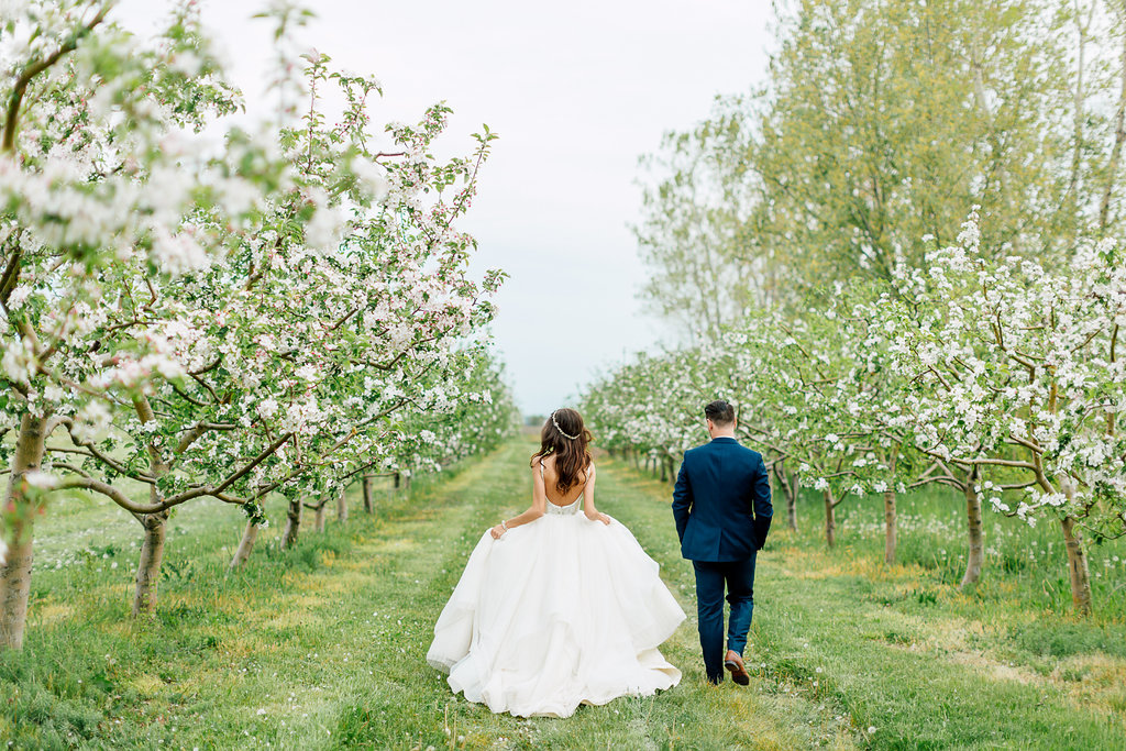 orchard weddings - photo by Purple Tree Photography http://ruffledblog.com/charming-wine-country-wedding-at-kurtz-orchard