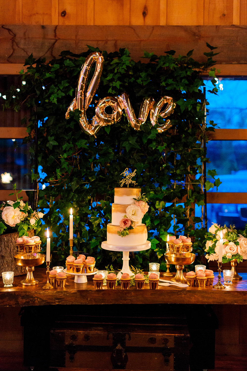wedding dessert tables - photo by Purple Tree Photography http://ruffledblog.com/charming-wine-country-wedding-at-kurtz-orchard