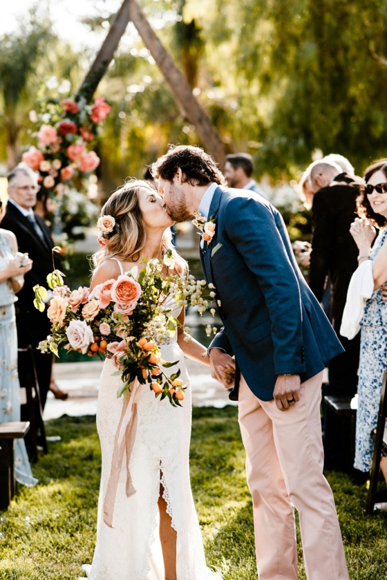 Cheery Summer Wedding with Wildflowers and Citrus