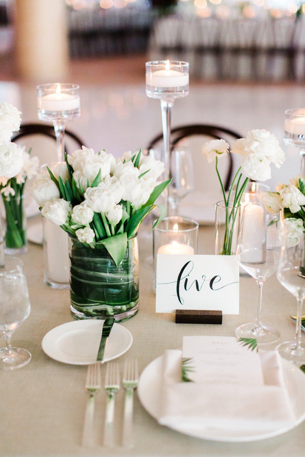 modern wedding receptions - photo by Anna Delores https://ruffledblog.com/chic-modern-wedding-at-four-seasons-santa-barbara