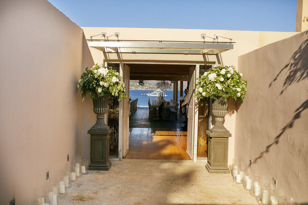 destination wedding inspiration - photo by Sotiris Tsakanikas https://ruffledblog.com/chic-sunset-wedding-on-the-athens-riviera