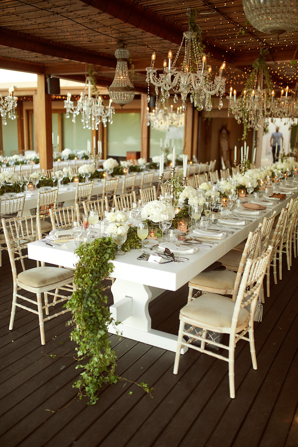 romantic wedding receptions - photo by Sotiris Tsakanikas http://ruffledblog.com/chic-sunset-wedding-on-the-athens-riviera