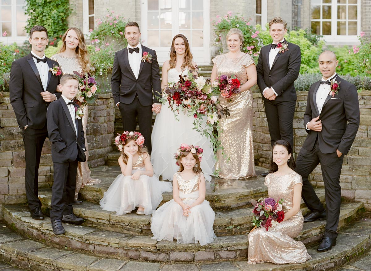 burgundy and gold wedding - photo Greg Finck