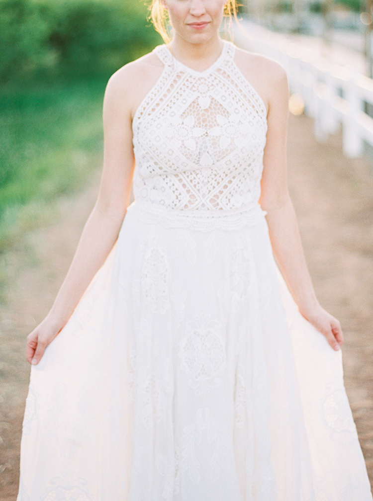 Rue de Seine wedding gowns - photo by Melissa Jill Photography https://ruffledblog.com/citrus-and-copper-orchard-wedding-inspiration