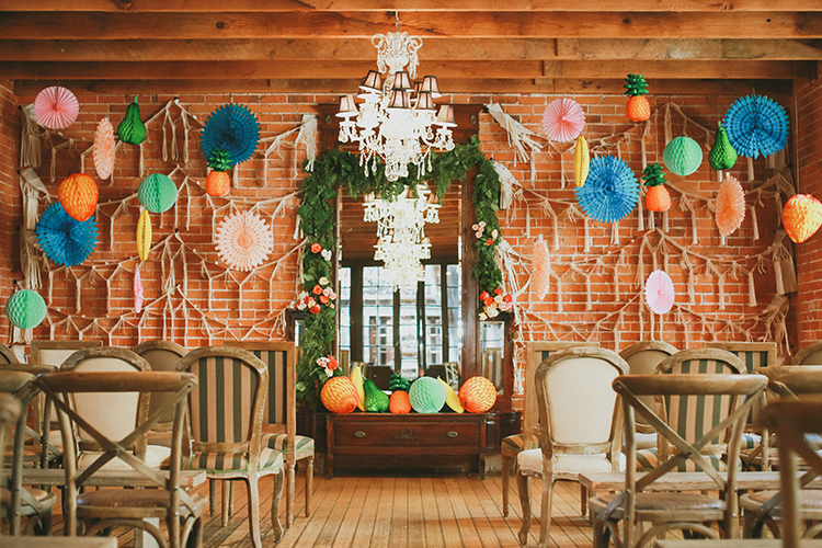 Citrus Hued Whimsical Wedding with Paper Details - photo by Kassia Phoy https://ruffledblog.com/citrus-hued-whimsical-wedding-with-paper-details