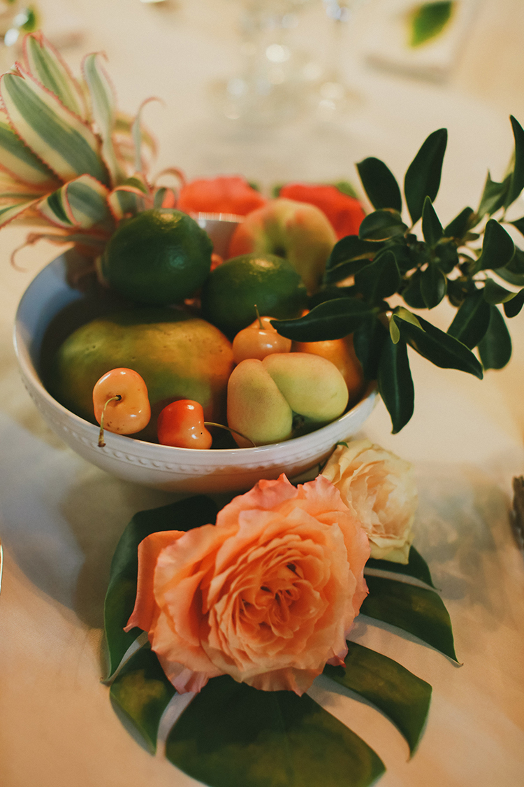 citrus and fruit weddings - photo by Kassia Phoy https://ruffledblog.com/citrus-hued-whimsical-wedding-with-paper-details