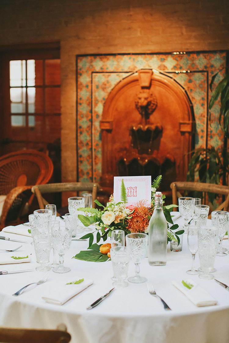 Carondelet House weddings - photo by Kassia Phoy https://ruffledblog.com/citrus-hued-whimsical-wedding-with-paper-details