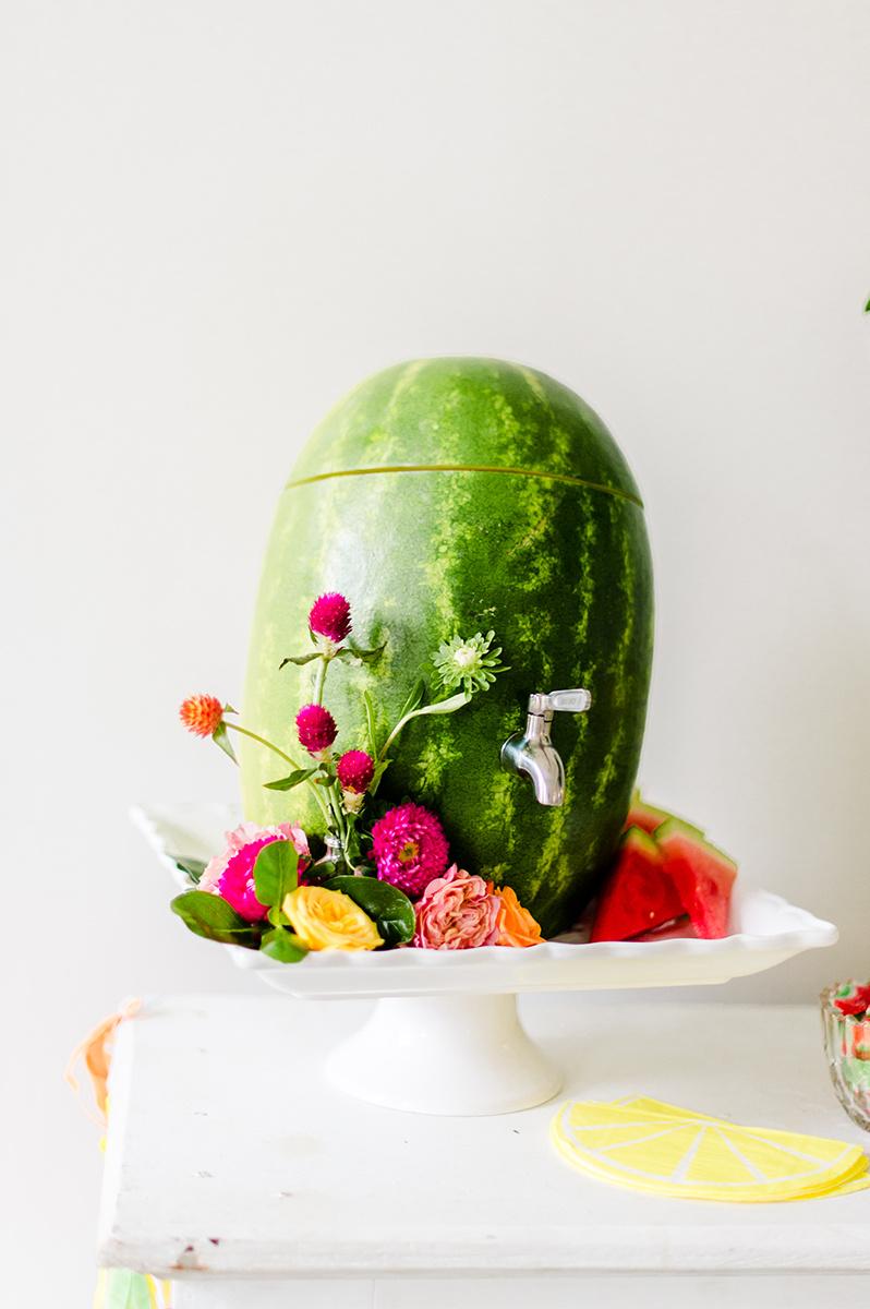 watermelon party ideas - photo by Madison Short Photography https://ruffledblog.com/citrus-sunshine-bachelorette-party-inspiration