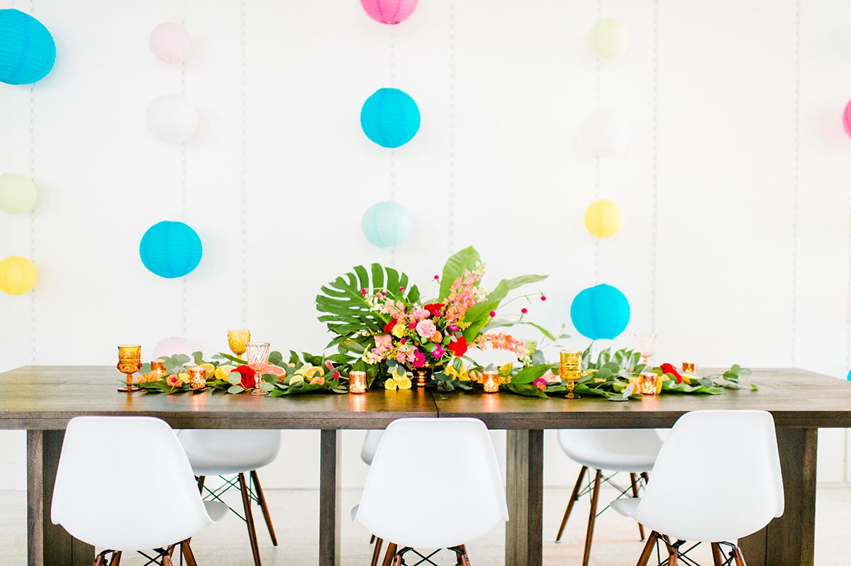 colorful wedding inspiration - photo by Madison Short Photography https://ruffledblog.com/citrus-sunshine-bachelorette-party-inspiration
