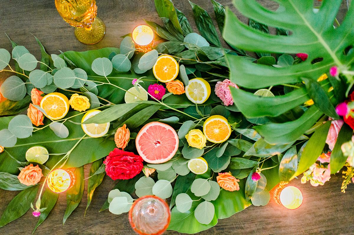 citrus party themes - photo by Madison Short Photography https://ruffledblog.com/citrus-sunshine-bachelorette-party-inspiration
