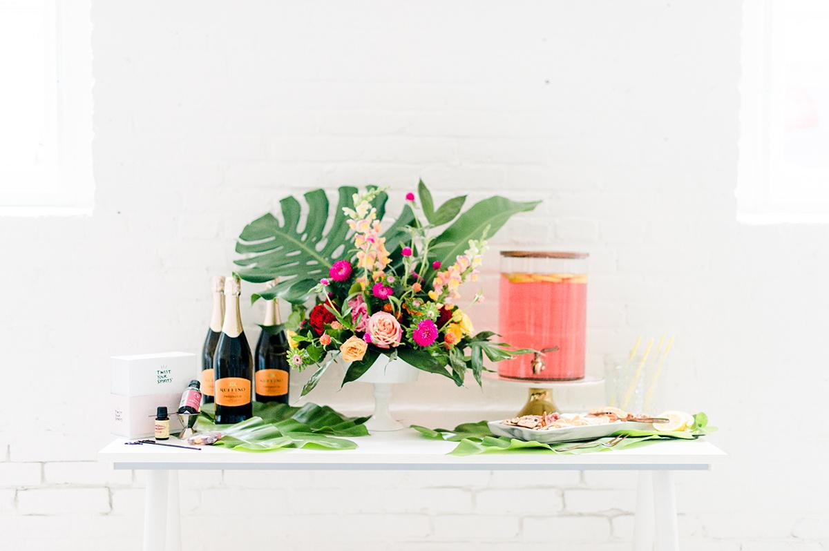 tropical shower ideas - photo by Madison Short Photography https://ruffledblog.com/citrus-sunshine-bachelorette-party-inspiration