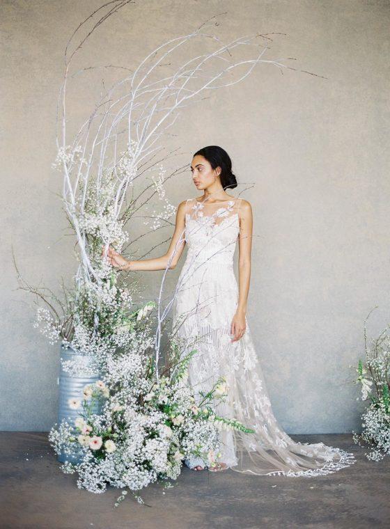 """Claire Pettibone Spring 2019 Bridal Collection: """"The White Album"""""""
