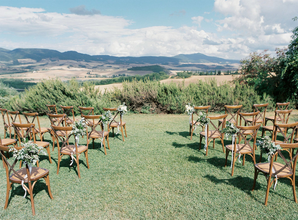 Tuscan wedding ceremonies - photo by Katie Grant Photography https://ruffledblog.com/classically-beautiful-intimate-wedding-in-tuscany