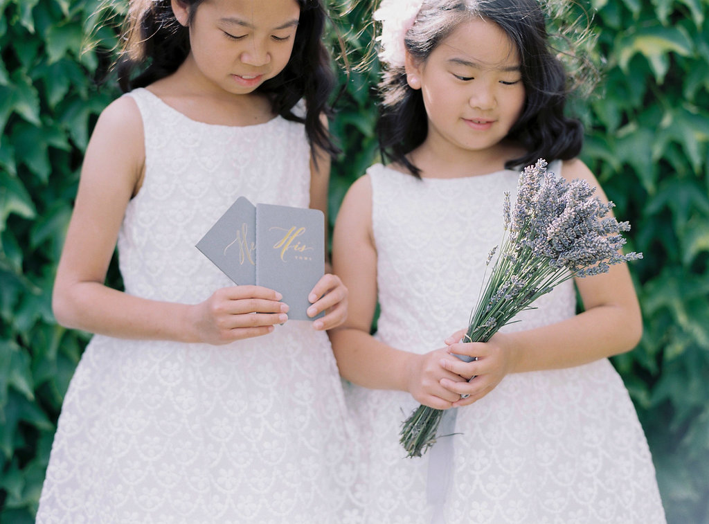 flower girl ideas - photo by Katie Grant Photography http://ruffledblog.com/classically-beautiful-intimate-wedding-in-tuscany