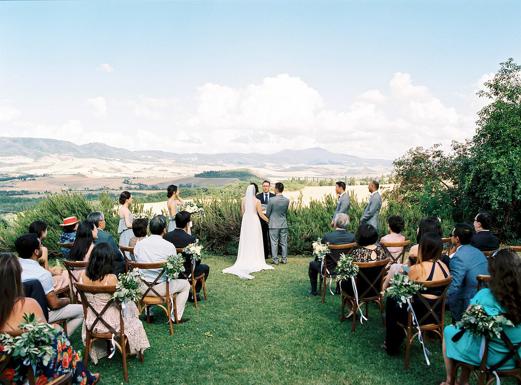 wedding ceremonies - photo by Katie Grant Photography https://ruffledblog.com/classically-beautiful-intimate-wedding-in-tuscany