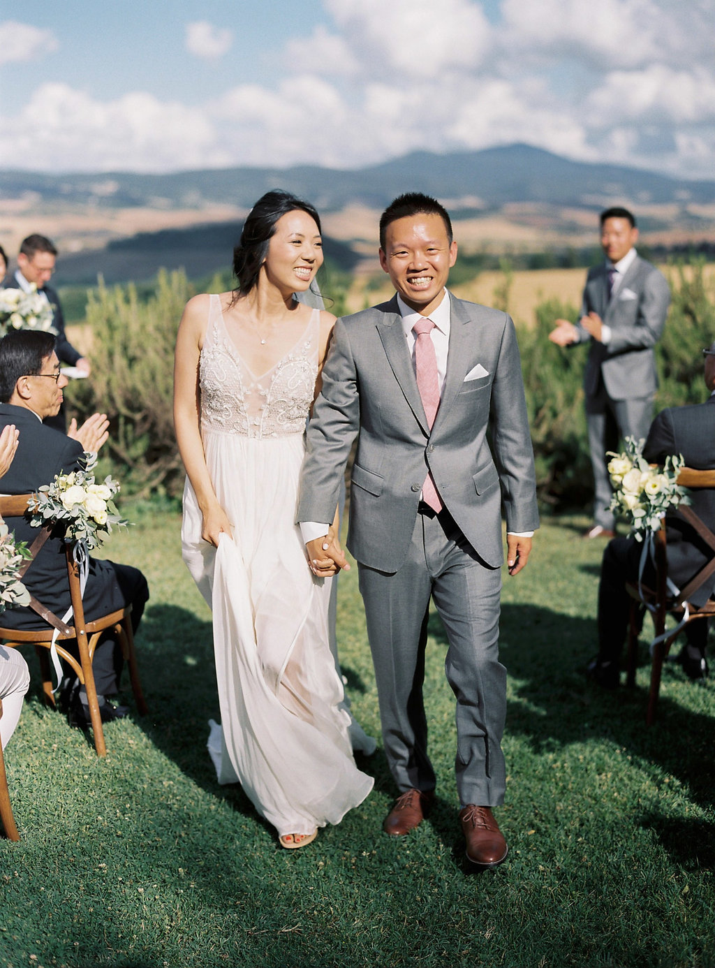 ceremony recessionals - photo by Katie Grant Photography http://ruffledblog.com/classically-beautiful-intimate-wedding-in-tuscany