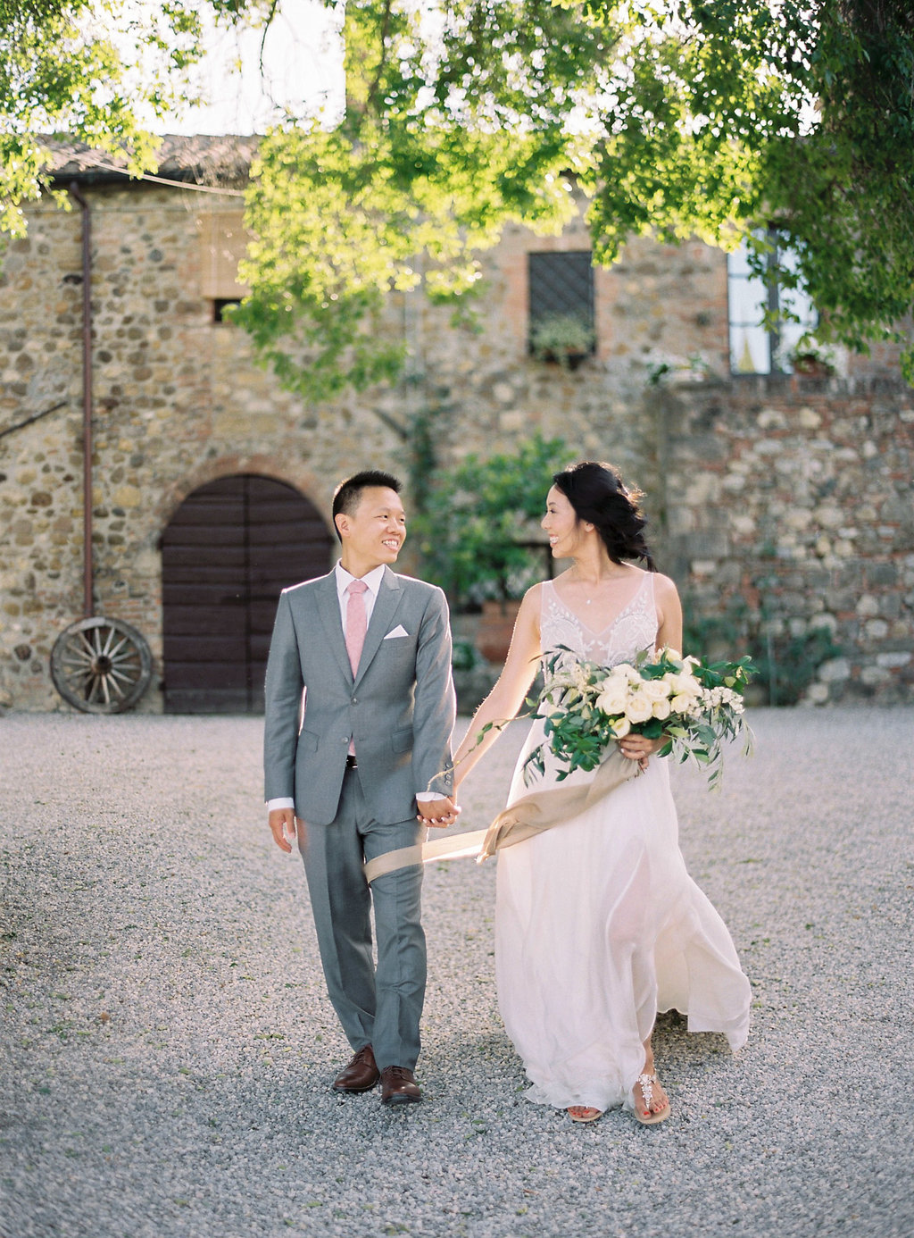 Tuscan wedding photography - photo by Katie Grant Photography https://ruffledblog.com/classically-beautiful-intimate-wedding-in-tuscany