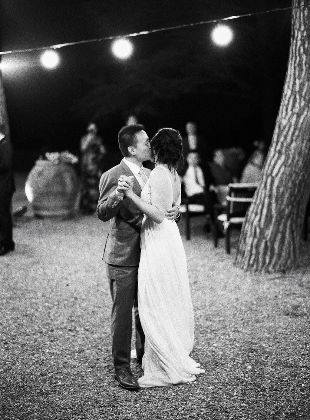 wedding first dances - photo by Katie Grant Photography https://ruffledblog.com/classically-beautiful-intimate-wedding-in-tuscany