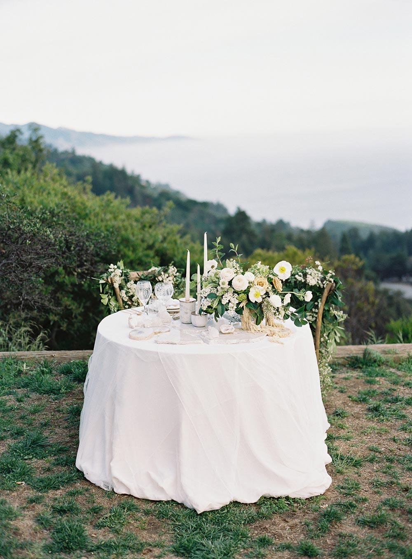 fine art wedding sweetheart table