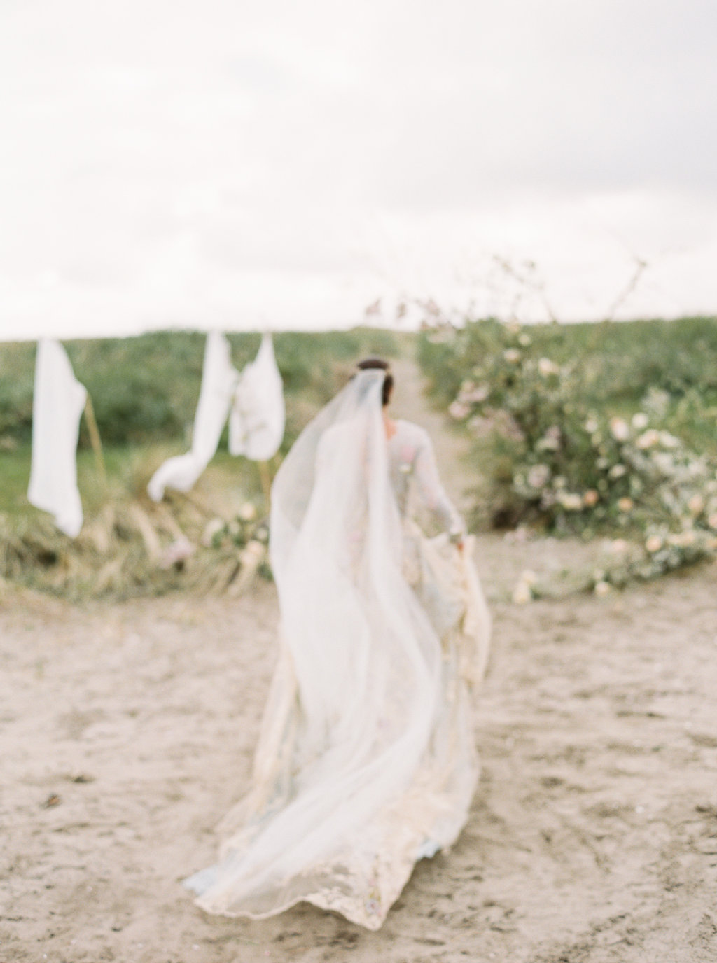 wedding fashion - photo by Be Light Photography http://ruffledblog.com/coastal-oregon-inspiration-with-a-show-stopping-wedding-gown