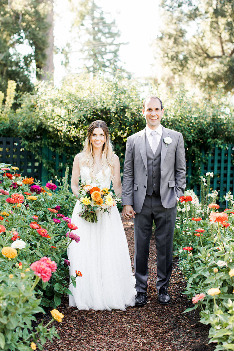 Colorful Monday Afternoon Garden Elopement - photo by Erin Milnik https://ruffledblog.com/colorful-monday-afternoon-garden-elopement
