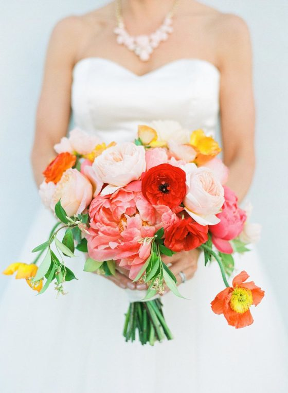 Colorful Wedding Inspiration with Mid-Century Gumption