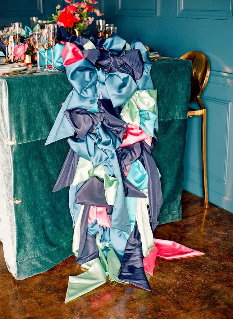velvet wedding inspiration - photo by Lisa Blume Photography https://ruffledblog.com/runway-to-table-wedding-inspiration-with-bows