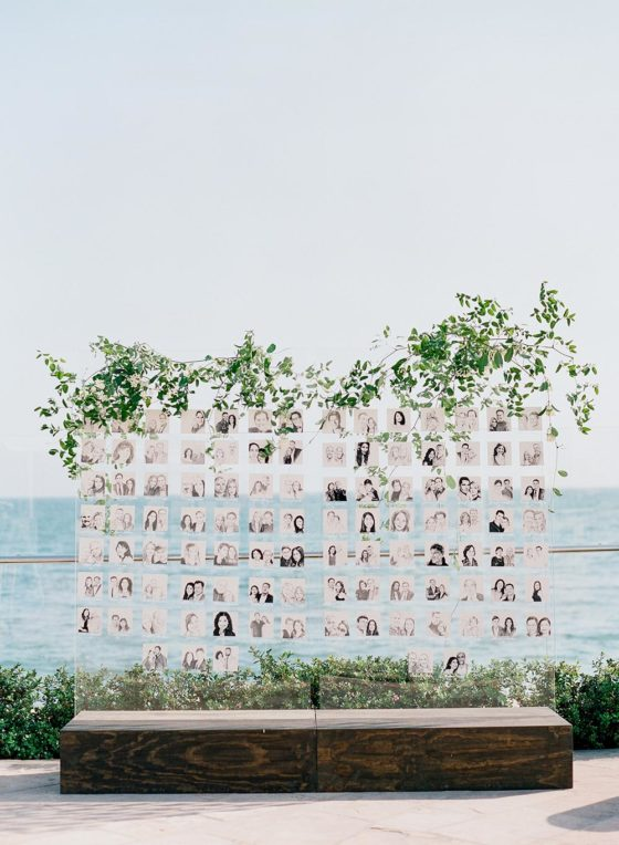 Contemporary Seaside Wedding with Charcoal Sketch Favors for the Guests