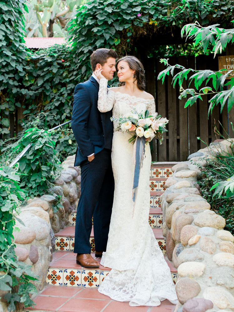 Copper + Blue Rancho Las Lomas Wedding Inspiration - photo by Dennis Roy Coronel http://ruffledblog.com/copper-blue-rancho-las-lomas-wedding-inspiration