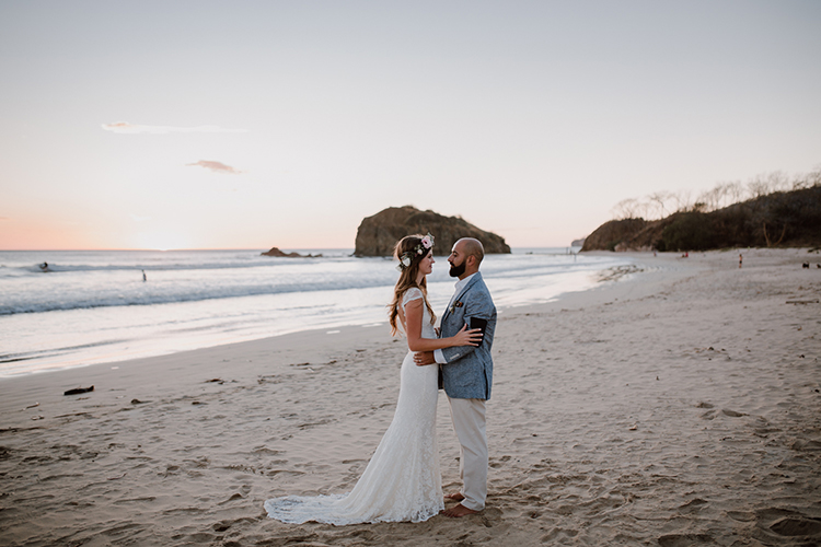 beach weddings in Costa Rica - https://ruffledblog.com/costa-rica-beach-wedding-with-a-cute-bridesmaid-first-look