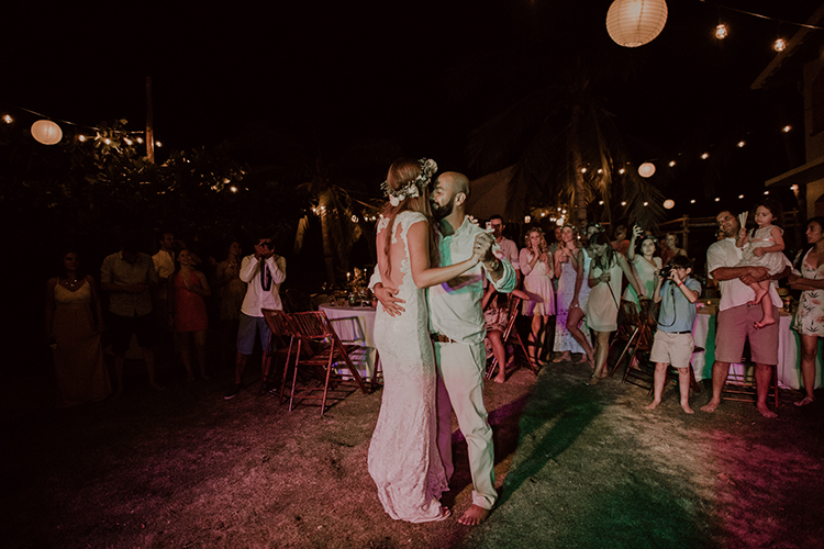 first dances - https://ruffledblog.com/costa-rica-beach-wedding-with-a-cute-bridesmaid-first-look