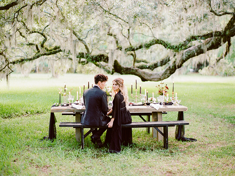 southern plantation wedding inspiration - http://ruffledblog.com/dark-and-stormy-magnolia-plantation-wedding-inspiration