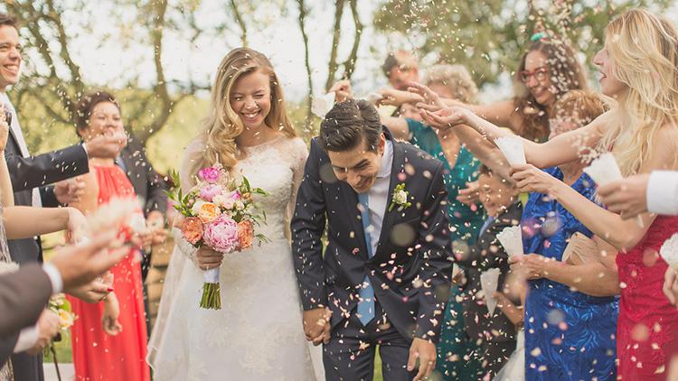 ceremony recessionals - photo by Facibeni Fotografia https://ruffledblog.com/destination-wedding-in-tuscany-with-al-fresco-dining